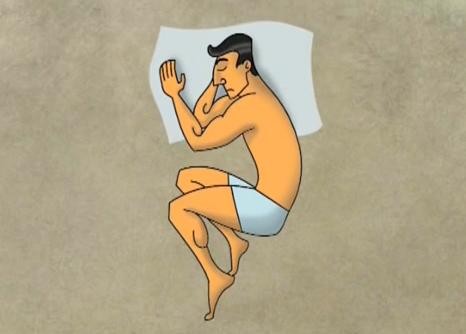 правилна поза за спане