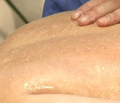 масаж с мед
