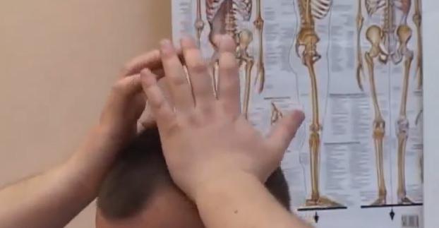 разминаване с дланите на ръцете