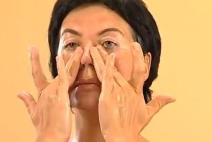 масаж на зоната на носа