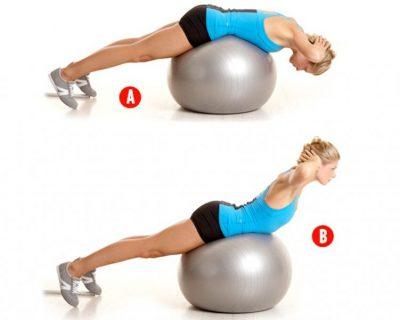 упражнения за кръста с топка