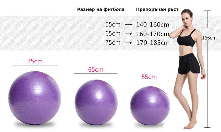избор на топка за упражнения