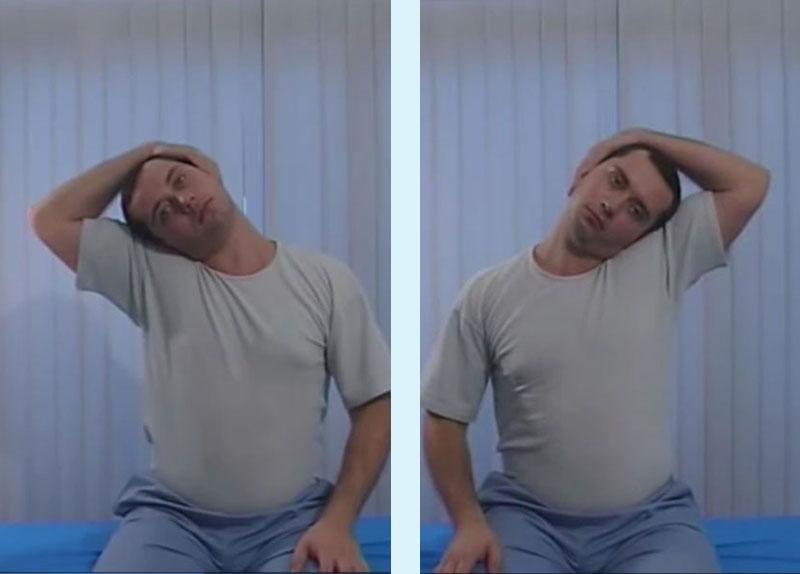 упражнения при схваната врат